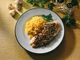 Überbackene Rotbarschfilets mit Champignon-Kräuter-Kruste Rezept