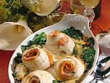 Überbackene Schollenröllchen in Senf-Dill-Soße Rezept