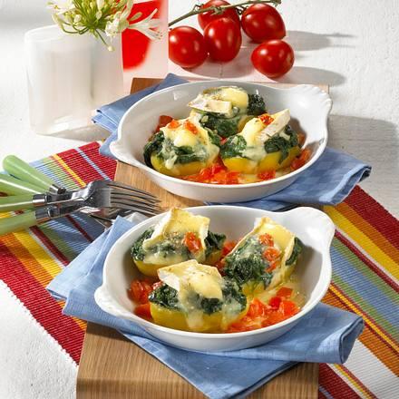 Überbackene Spinat-Kartoffeln Rezept