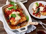 Überbackene Spinat-Ricotta-Hähnchenfilets Rezept