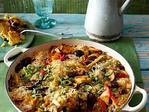 Überbackene Veggie-Paella Rezept