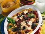 Überbackene Zucchini auf Bulgur Rezept