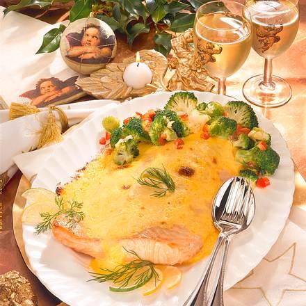 Überbackener Lachs mit Broccoli Rezept