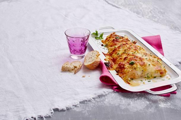 Überbackener Lachs mit Senfcreme Rezept