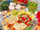Überbackener Ziegenkäse auf Salat Rezept