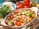 Überbackenes Gemüse mit Mozzarella Rezept