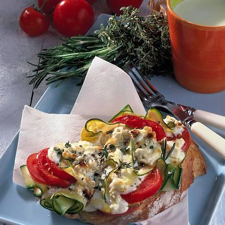 Überbackenes Gemüsebrot Rezept