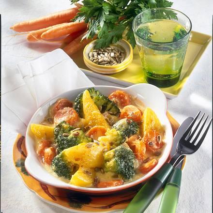 Überbackenes Gemüsepfännchen Rezept