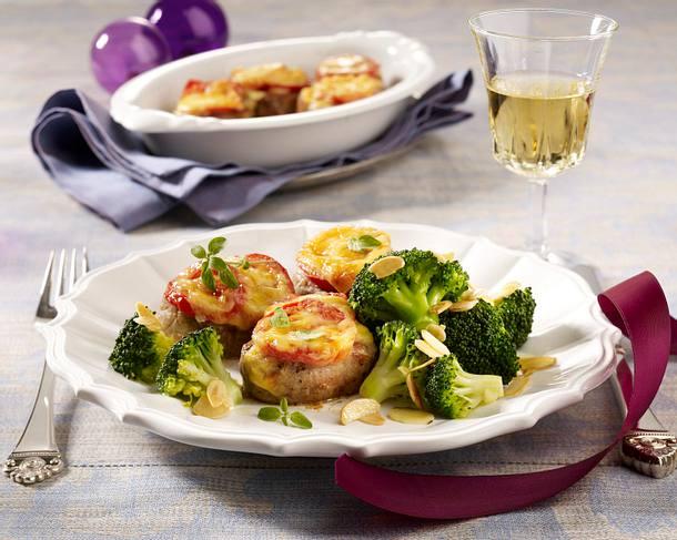 Überbackenes Schweinefilet mit Mandel-Broccoli Rezept
