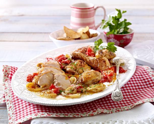 Ungarisches Sahne-Zwiebel-Hähnchen Rezept