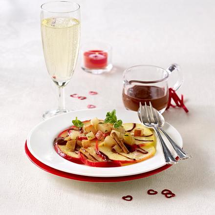 valentinsmen f r zwei vanille zimt pfel und birnen mit schokoso e rezept chefkoch rezepte. Black Bedroom Furniture Sets. Home Design Ideas