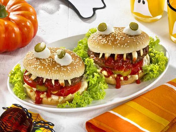 Vampi-Burger für Halloween Rezept