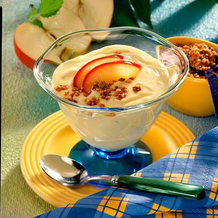 Vanille-Apfel-Creme mit Krokant Rezept