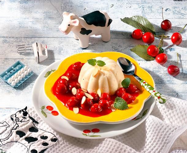 Vanille-Joghurt-Grieß mit Kirschen Rezept