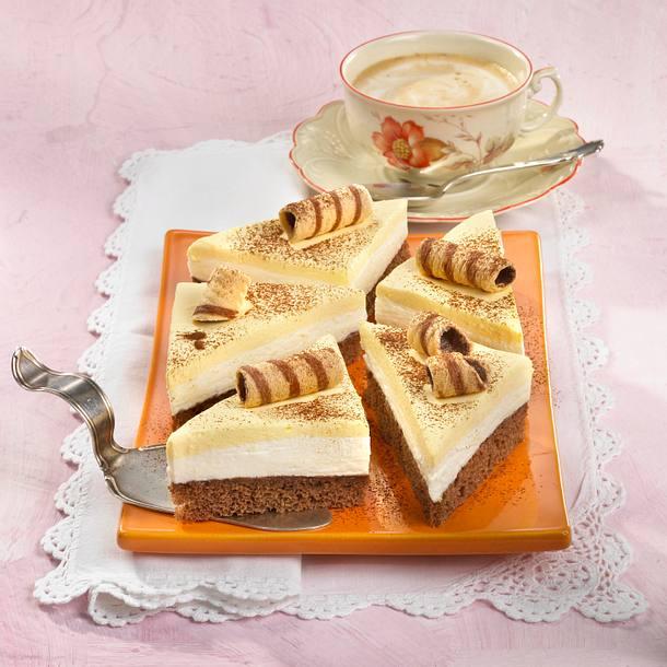 Vanille-Joghurt-Schnitten mit Kakao Rezept