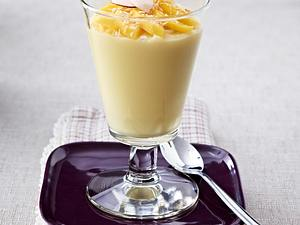 Vanille-Kokos-Pudding mit Mango Rezept
