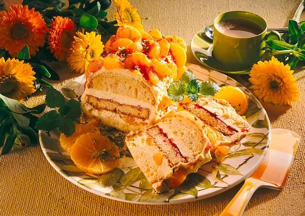Vanille-Mandarinencreme- Kuchen Rezept