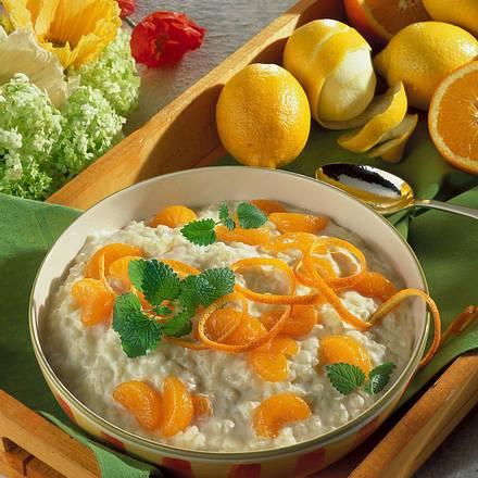 Vanille-Milchreis mit Mandarinen Rezept
