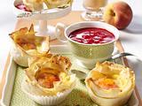 Vanille-Muffins mit Pfirsichen Rezept