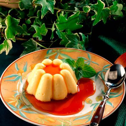 Vanille-Pudding mit Karamellsoße Rezept