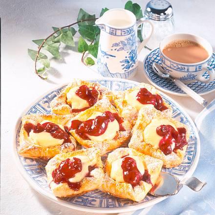 Vanille-Teilchen mit Kirschen (Diabetiker) Rezept