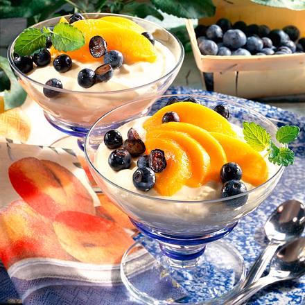 Vanilledessert mit Hüttenkäse Rezept