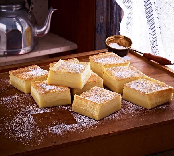 Schnelle Blechkuchen Rezepte Mit Bild: Vanillepudding-Kuchen Rezept