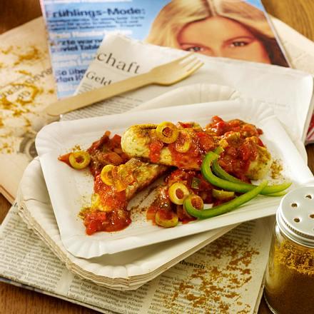 vegetarische currywurst mit paprikaso e rezept. Black Bedroom Furniture Sets. Home Design Ideas