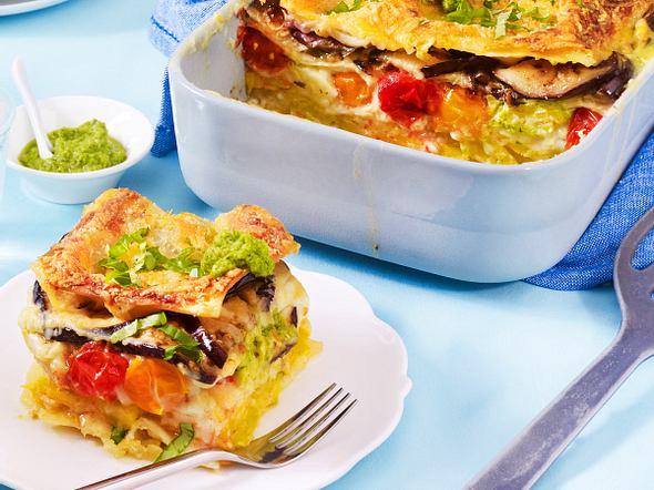 Vegetarische Sommer-Lasagne Rezept