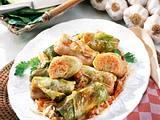 Vegetarische Kohlrouladen mit Tomatenreis Rezept