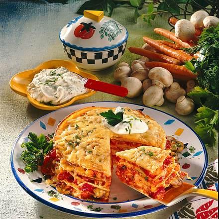 Vegetarische Pfannkuchen-Lasagne Rezept