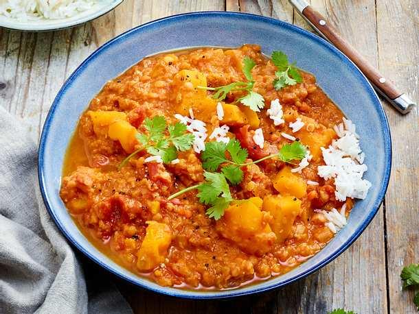 Vegetarisches Kürbis-Curry Rezept