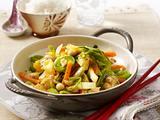 Vegetarisches Weißkohl-Wok-Gemüse Rezept