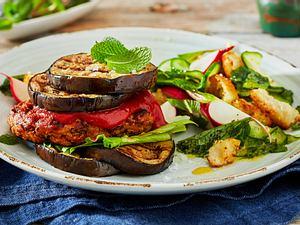 Veggie-Burger mit Auberginen-Bun Rezept