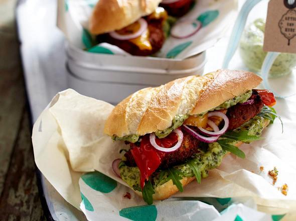 Veggie-Burger mit Falafel Rezept