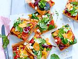 "Veggie-Pizza ""Colour Beauty"" aus Dinkelteig  Rezept"