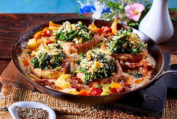 Veggie-Schmorpfanne zu Kartoffelstampf Rezept