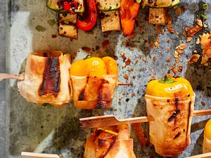 Veggiespiess gefüllte Paprika Rezept
