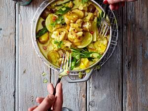 Verschärftes Blumenkohl-Curry Rezept