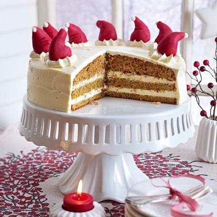 Versunkene Weihnachtsmänner-Torte Rezept