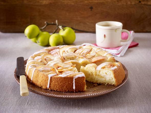 Versunkener Apfel-Kokos-Kuchen Rezept