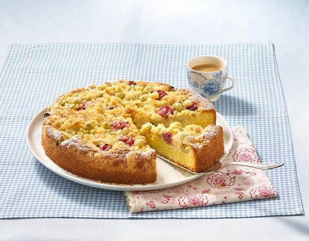 Versunkener Stachelbeer-Streuselkuchen Rezept