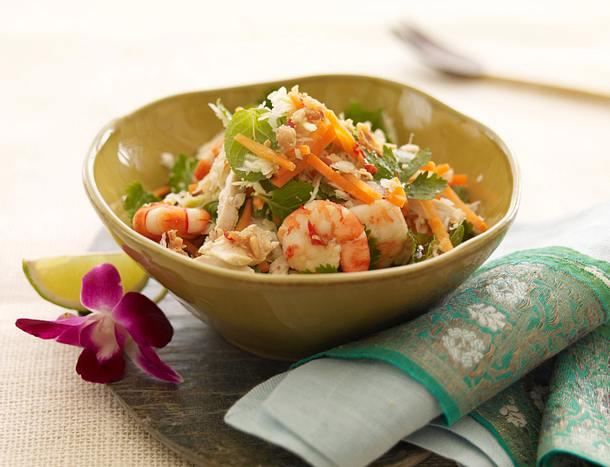 Vietnam: Hähnchen-Garnelen-Salat Rezept