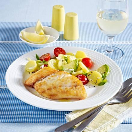 Viktoriabarsch an Avocado-Kartoffelsalat Rezept