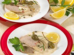 Vitello Tonnato (Kalbsfleisch in Thunfisch-Soße) Rezept