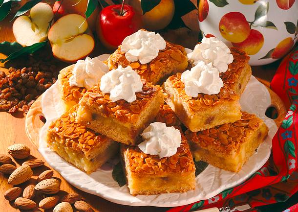 Vollkorn-Apfel-Blechkuchen Rezept