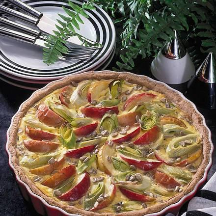 Vollkorn-Quiche mit Apfel und Porree Rezept