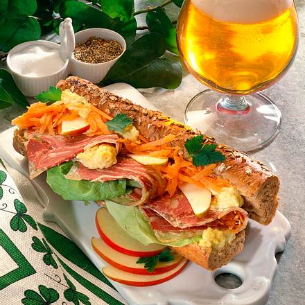 Vollkornsandwich mit Sülze Rezept