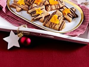Vollwert-Mürbteigplätzchen mit Schokolade und Trockenfrüchten Rezept