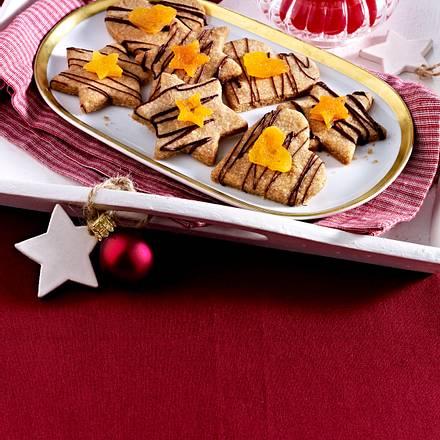 Weihnachtsplätzchen Vollwert.Vollwert Mürbteigplätzchen Mit Schokolade Und Trockenfrüchten